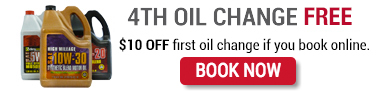 With Brake Check your 4th oil change free at everyone of our store locations in Austin, Harker Heights, Victoria, Houston and many more cities locations
