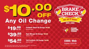 Brake Check Coupon Oil Change